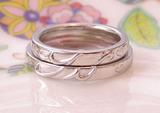 結婚指輪 イニシャル