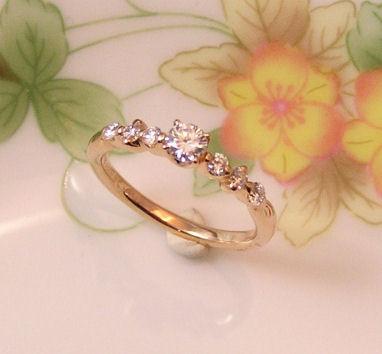 ハワイアンテイストの婚約指輪