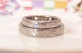 結婚指輪 クローバー