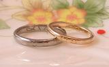 ニコちゃんマークの結婚指輪