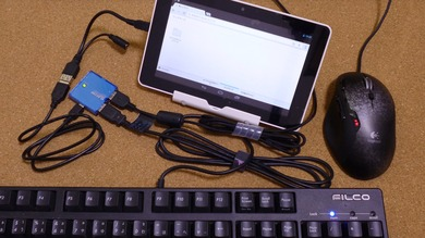 USBハブを利用しキーボードとマウスを接続