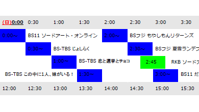表 福岡 bs テレビ 番組 BSデジタル