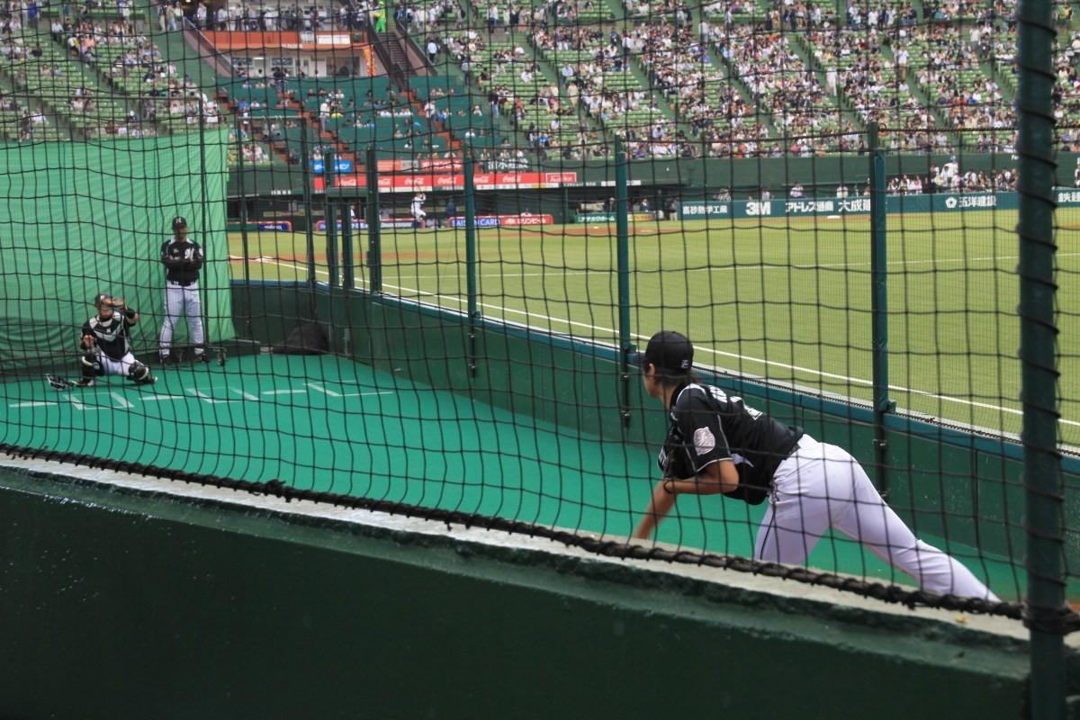 千葉が大好き、日本が大好き:9月23日西武ドームのブルペンサイドシートで観戦したよ