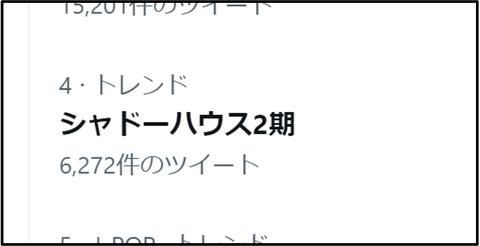 アニメ二期トレンド入り