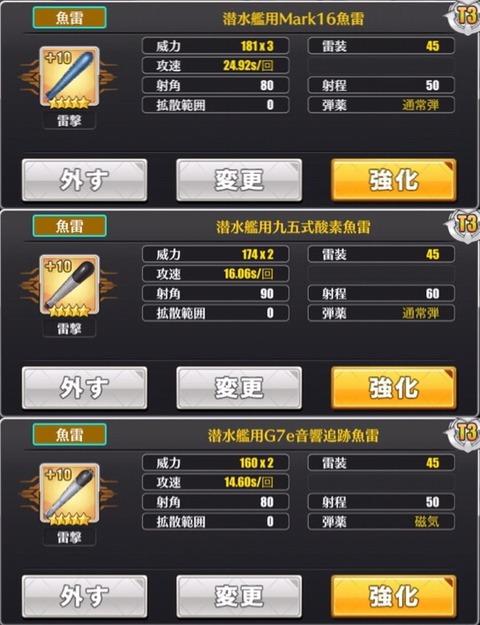 潜水艦魚雷比較