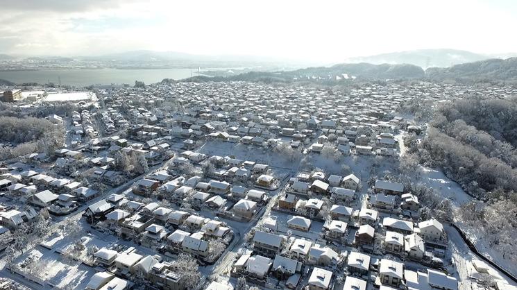 雪の比叡平