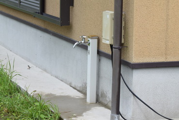 屋外水栓復旧