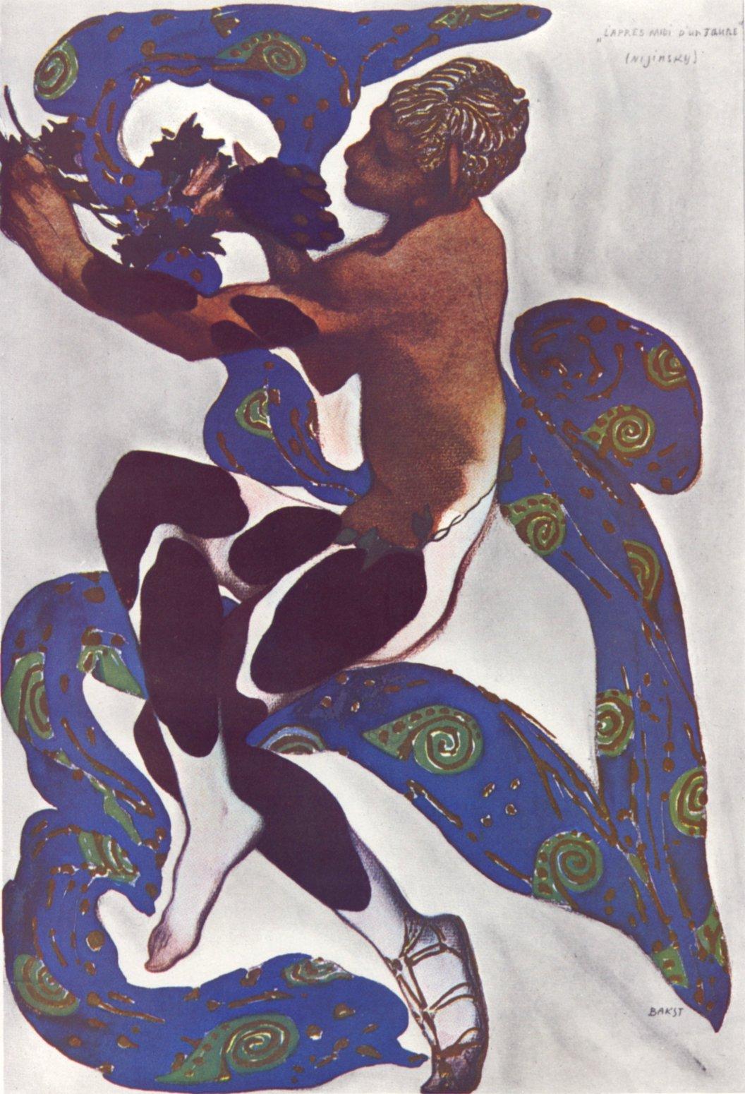 バクスト 『牧神の午後』のニジンスキー (1912) ゼウスの光(1908)   SHALA&a