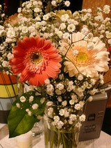 花束も貰ってしまった。