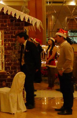 太平洋シェラトン虹橋ホテルの聖誕節(シェンタンジェ)ツリー
