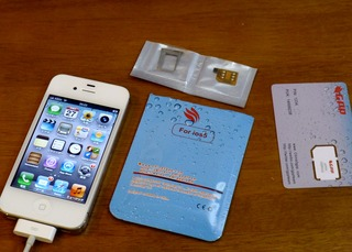 AUのiPhone4sをsimフリー化して中国用に改造してみる。