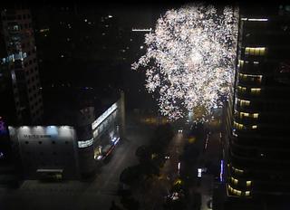 中国のお正月「春節」の花火