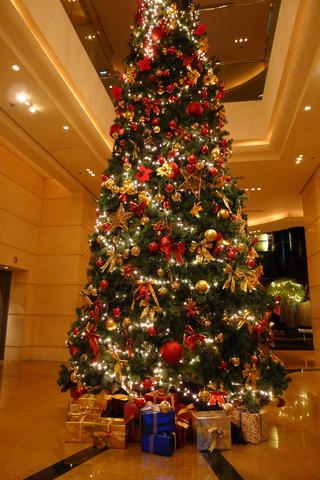 ポートマンリッツカールトンホテル上海の聖誕節(シェンタンジェ)ツリー