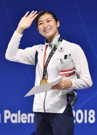 【アジア大会/競泳】池江璃花子が前人未到6冠!、女子50M自由形 金メダル