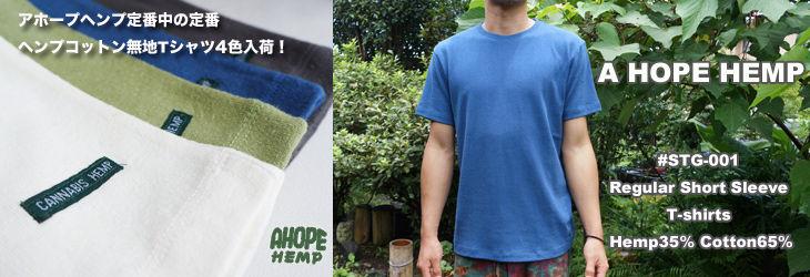 a hope hemp無地Tシャツ