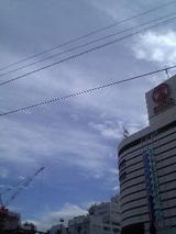 徳島駅前の空