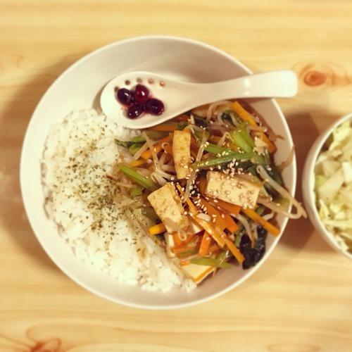 厚揚げと野菜のオイスターソース炒め【男二人暮らしの食事とか、なんとか、かんとか。】