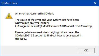 3DMark2001SE_Error
