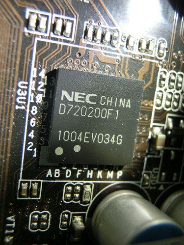 P55 Deluxe3上のUSB3.0(MPD720200)