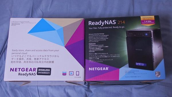 ReadyNAS 104とReadyNAS 214