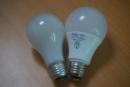 白熱電球 vs LED電球