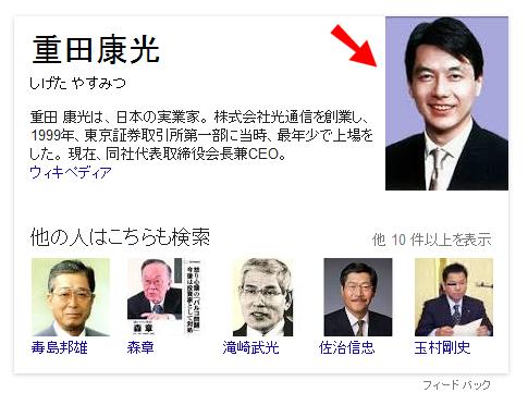 重田康光さんではない
