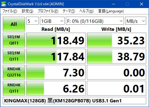 KINGMAX(128GB) 黒(KM128GPB07B) USB3.1 Gen1
