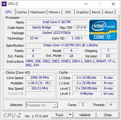 Core i7-2677M