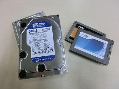 ハードディスクとSSD