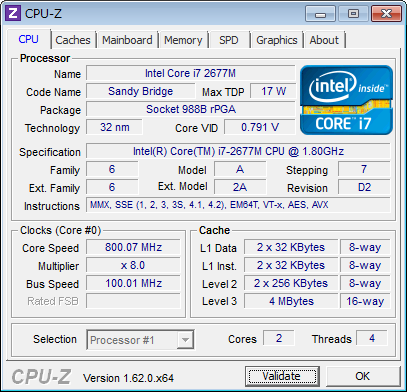 Corei7 2677M - A1369(Mid 2011)