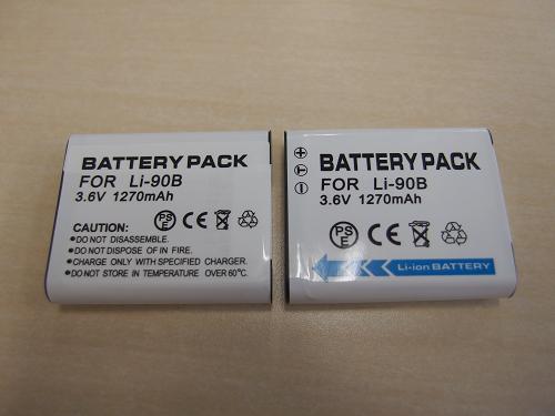 Li-90Bの互換バッテリー