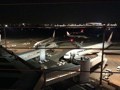 羽田空港(東京国際空港)の展望デッキから