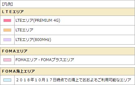 凡例_サービスエリア_NTTドコモ