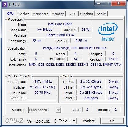 Celeron 1000M 1.80GHz