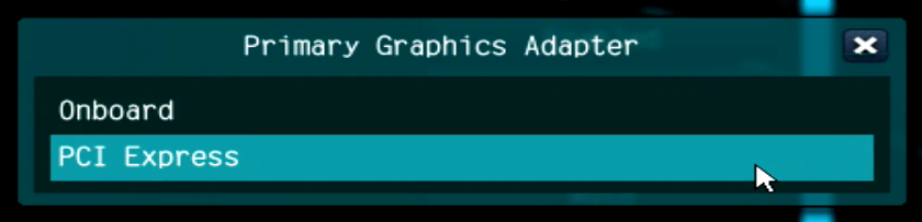 Primary Graphics Adaptor