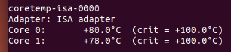 UbuntuでのCPU温度