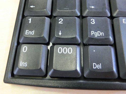 「000」の入力が可能