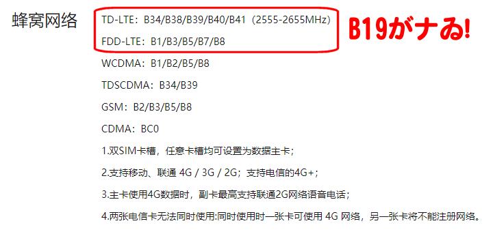 Lenovo K5 play 仕様