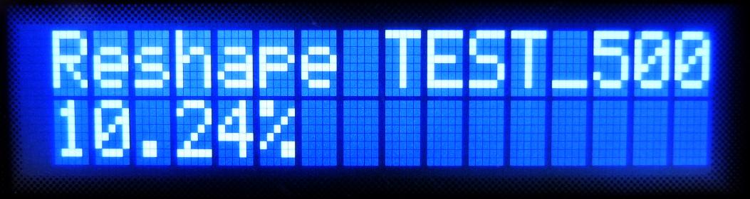 Reshape TEST_500GB
