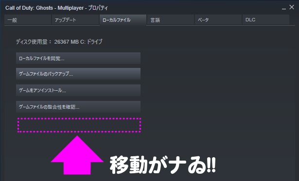 移動がない_Steam