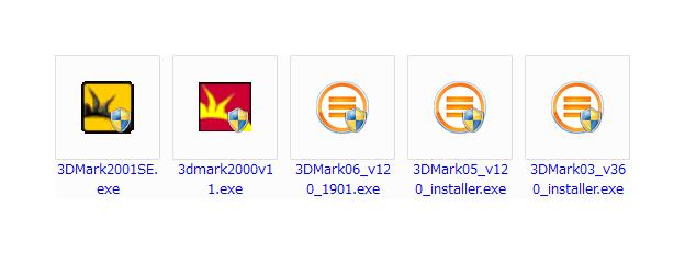 3DMark2000,3DMark2001SE,3DMark03,3DMark05,3DMark06