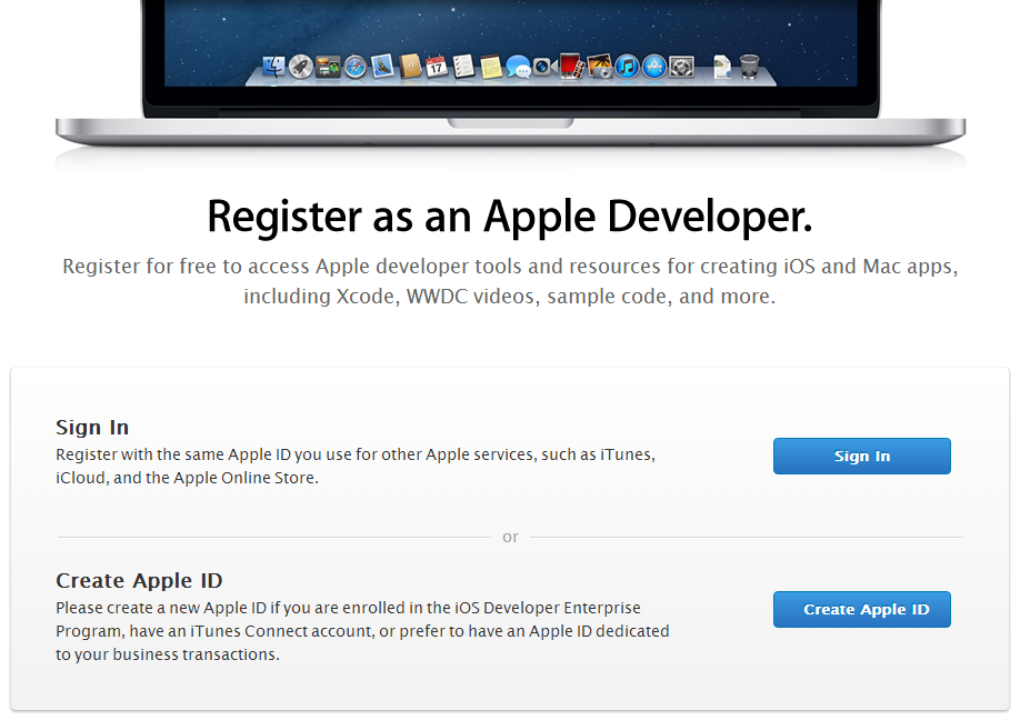 Register as an Apple Developer