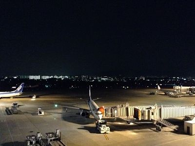 伊丹空港(大阪国際空港)の展望デッキから