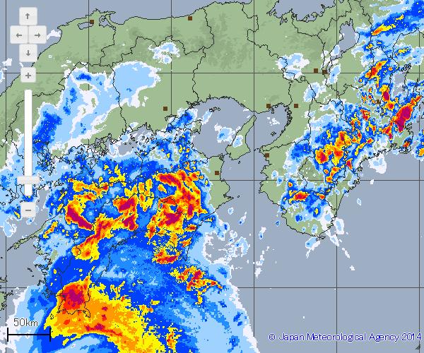 四国は強雨