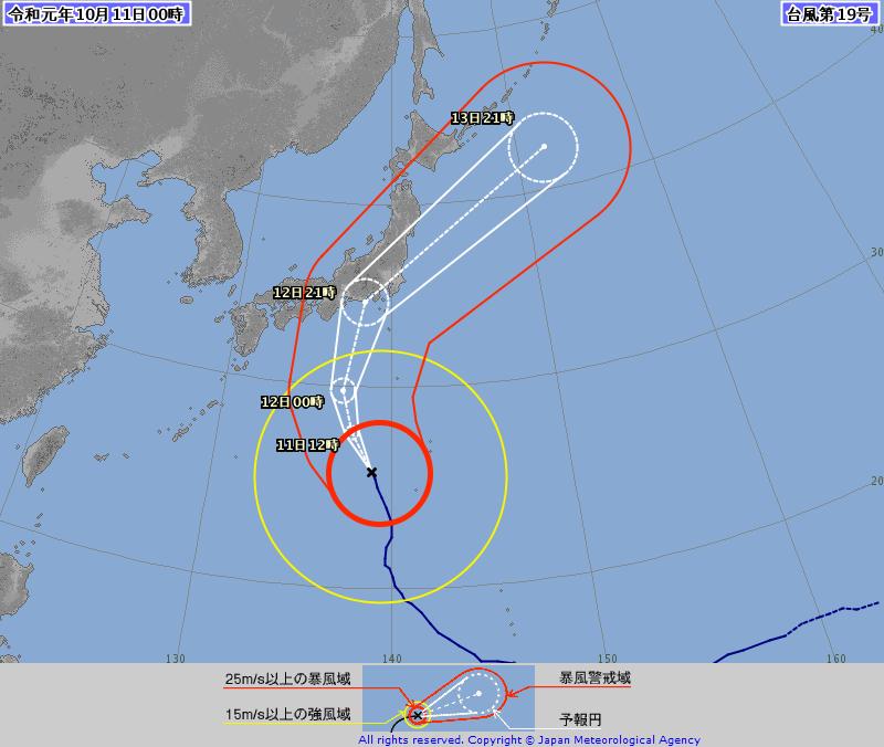 台風19号_2019年10月11日0時