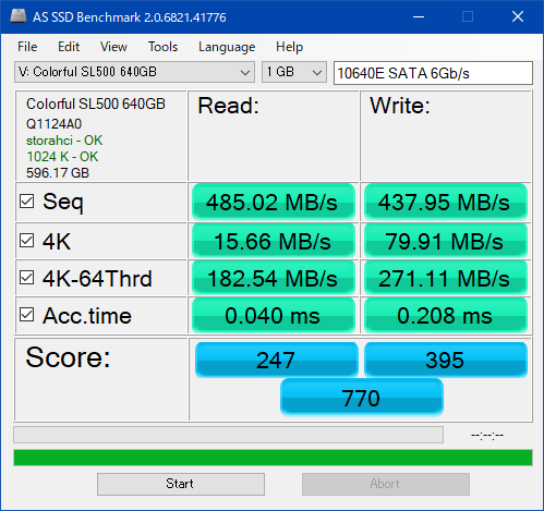 新SL500_640GB_AS SSD Benchmark