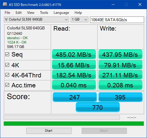 新SL500_640GB_AS SSD Benchmark