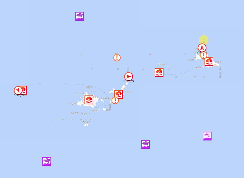 海の安全情報_台風9号_2019年8月9日
