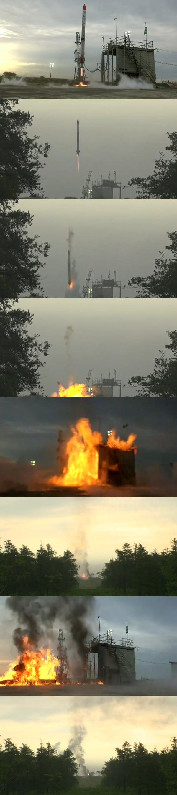 ホリエモンロケット大爆発