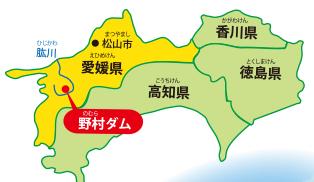肱川水系の位置